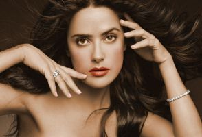 Salma Hayek  Colorization I by i-maginatif
