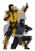 Scorpion and Noob Saibot by N2VIX