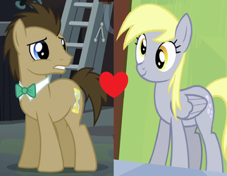 Doctor Whooves x Derpy Hooves (Smileverse) by 3D4D