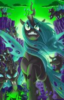 Queen Chrysalis colore by SemajZ