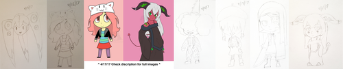 Daily Drawings 4-15 To 4-21 by HellStorm8000
