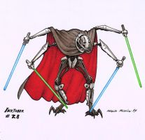 General Grievous - Inktober 28 2017 by BrokenMachine86