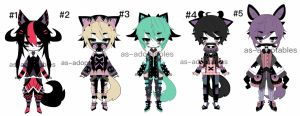 Kemonomimi adoptables open by AS-Adoptables