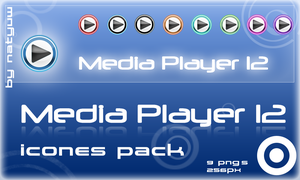 Media Player 12 Icon Pack by Natyvw