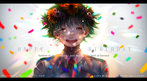 Happy birthday Deku ! by Shirubani