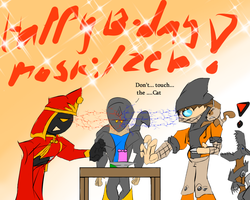 Happy Birthday Moski and Zebesian by Thesimpleartist4