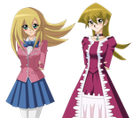 .: YGO DMG and Alexis Alternate Outfits :. by Sincity2100