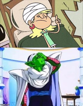 Piccolo's reaction to Leni's smart look by Montyclan
