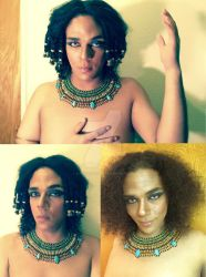 Egyptian makeup by Sylent-Fantome