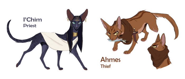Gold Project: I'Chim and Ahmes by OwlCoat
