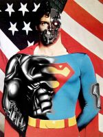 christopher reeve as cyborg by megamike75