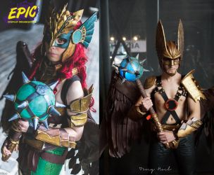 Hawkman and HawkGirl cosplay by E2cosplay