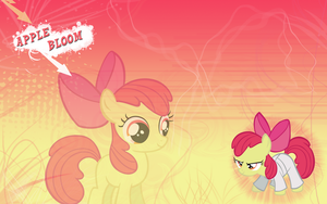 FiM: Apple Bloom Wallpaper by M24Designs