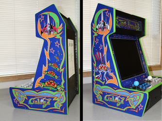 Galaga Themed Bar-top Arcade - Completed Cabinet by Sonic840