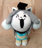 Temmie Plushie :Commission: by AppleDew