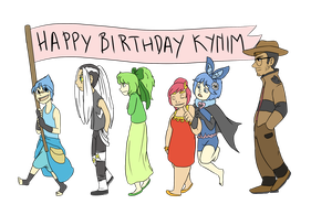 Happy Birthday Kynim by ZannyHyper