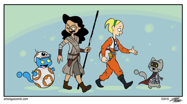 The Force Wakes Up by WillDrawForFood1
