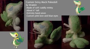Custom Snivy Mock Pokedoll by thewrabbithole