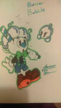Buster bubble. (cuphead oc) by sanstheskeleton2001