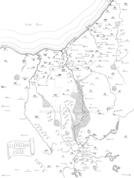 Fantasy map of Cuyahoga Valley (Cleveland-Akron) by Mapsburgh