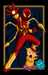 Iron Spider vs. Miki by AnutDraws