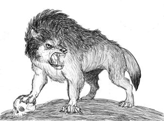 Dire Wolf sketch by TheMorlock