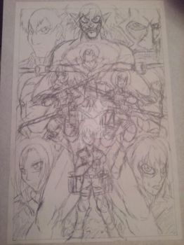Attack on Titan Sketch! by d13mon-studios