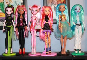 Monster High ooak dolls by rainbow1977