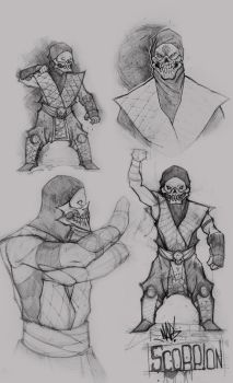 MK Scorpion sketches by Kperfect