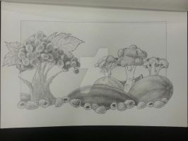 Pencil Fruitscape by vivi-the-great
