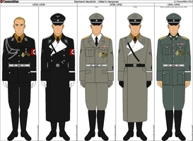 Some of Reinhard Heydrich's Uniforms by Grand-Lobster-King