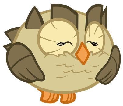 Owlowiscious: A Happy Owl by Lahirien