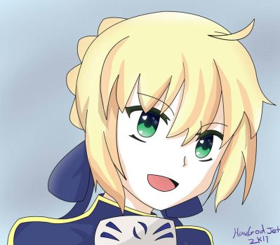 Saber bday request  by HaxGodJet