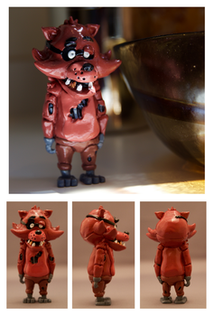 SOLD OUT: Foxy Fan-Figurine by CassowaryRoom