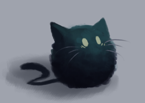 Cat Paint Doodle 1 by CoffeeSnake