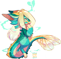 #163 Fornlee w/m - Seafoam (FLASH AUCTION) by Kitkabean