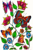 Butterflies Coloured by WelshPixie