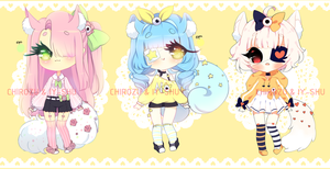 Adoptables | One-eyed cutie batch - CLOSED by ChiRozu