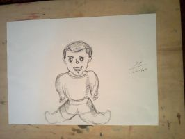 ZIYZAD my Neighbor's KID 2 min Sketch by kalabadi-hallaj