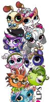Littlest Pet Shop Totem Pole(?) by Opallene