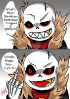 Skeletons Dont Have Tongues Or Genitals by SakuraFaith