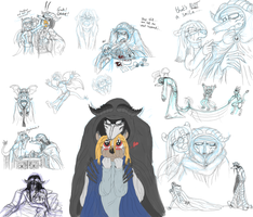 Damion and Toxa new design sketchdump by queenmoreta