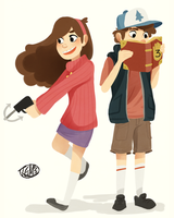 Mystery Twins by TheGingerMenace123