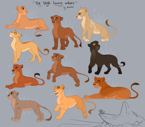 TLK style Lioness Adoptables -CLOSED- by Kitchiki