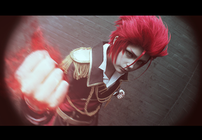 Mikoto fight by ShadowFox-Cosplay
