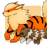 Zigzagoon and Arcanine