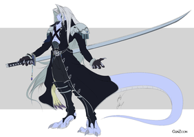 FF7 Sephiroth Snake Form Color by GunZcon