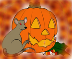 Mouse and a pumpkin by milissaroland