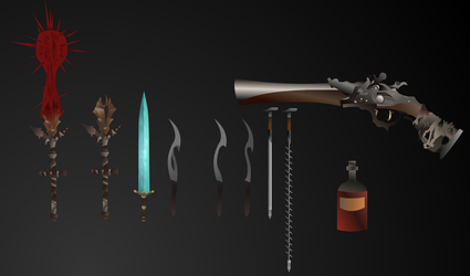 Bloodborne Weapons by JJSwiftProductions