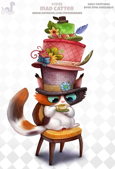 Daily Paint 1945# Mad Catter by Cryptid-Creations